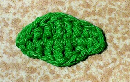 Hoja Nº 5 a crochet