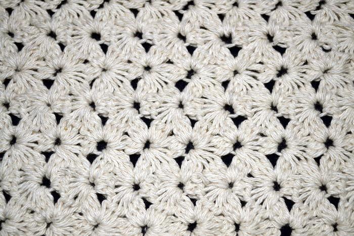 Eccezionale Punto Jazmín Tradicional en tejido crochet OV36