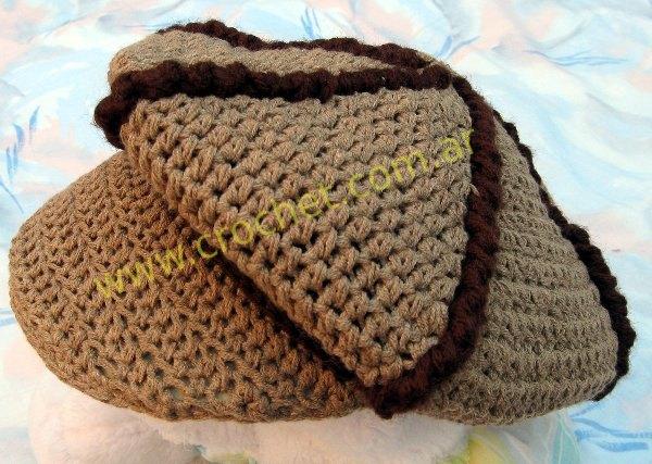 Boina con visera tejida a crochet 037e612c7cb