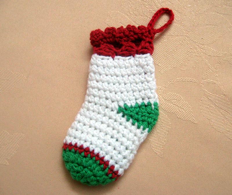 Medias de navidad tejidas a crochet
