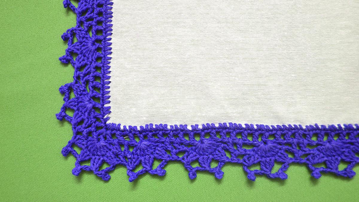 Pañuelo en tejido crochet