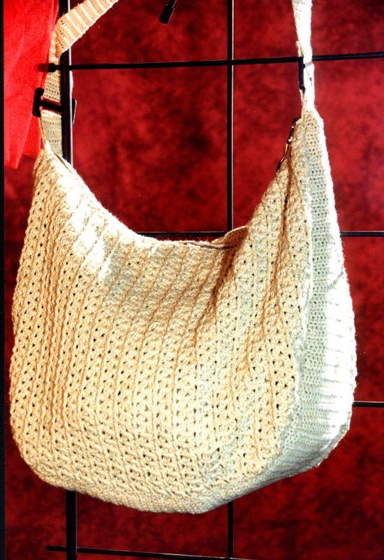 Bolso grande en tejido crochet o ganchillo - Bolsos tejidos a ganchillo ...