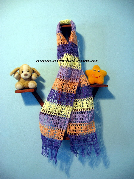 Bufanda para niña tejida a crochet