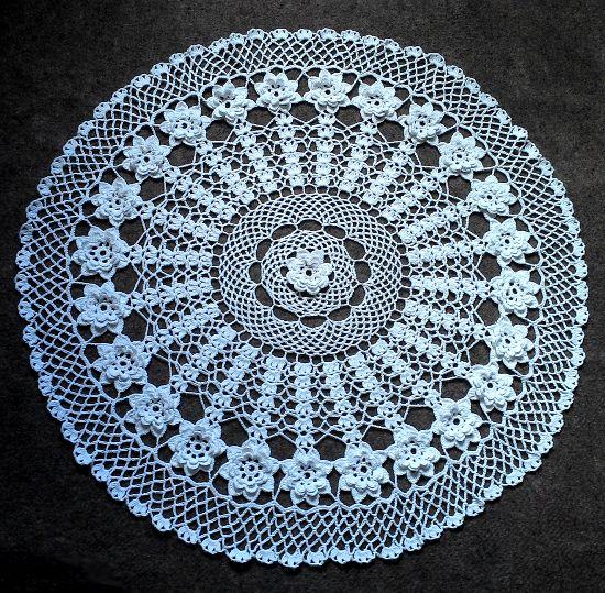 Tejido En Crochet Centro De Mesa