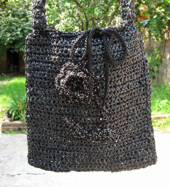 Cartera bolso en tejido crochet ganchillo - Bolsos tejidos a ganchillo ...