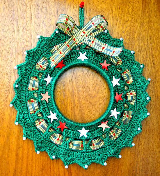 Corona De Navidad En Tejido Crochet O Ganchillo - Navidad-ganchillo