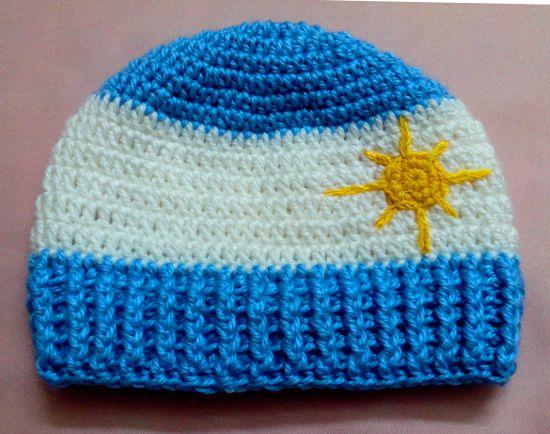 Gorro Argentino Para Niños En Tejido Crochet