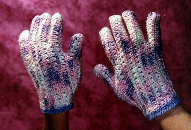 Guantes Matizados a crochet