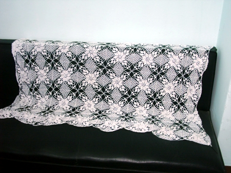 Crochet Knurl Stitch : PUNTILLA PARA MANTITAS ,MANTELES AL CROCHET-GANCHILLO CON
