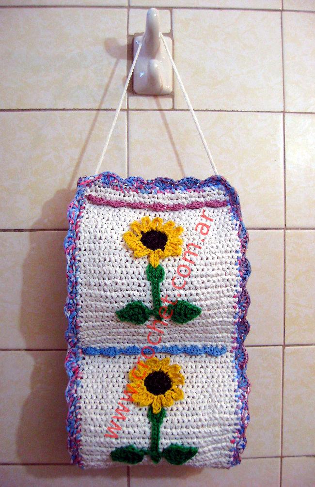 Porta rollos a crochet