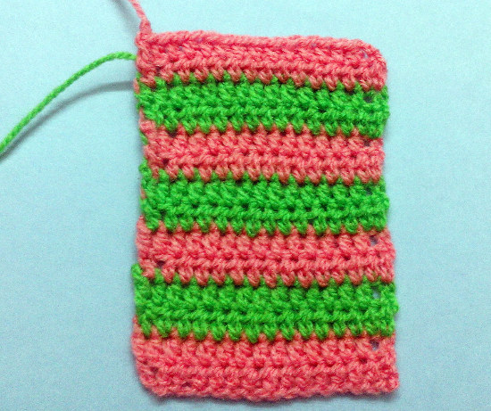 Cambio color a crochet