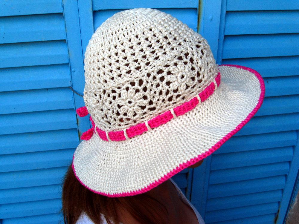 Sombrero Playero en tejido crochet