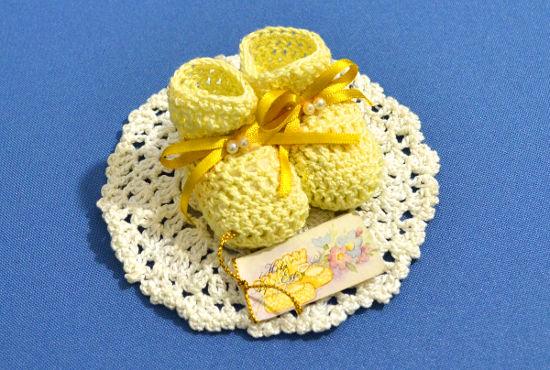 Souvenirs Motivo Escarpines a crochet