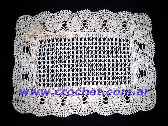Tapete rectangular en crochet