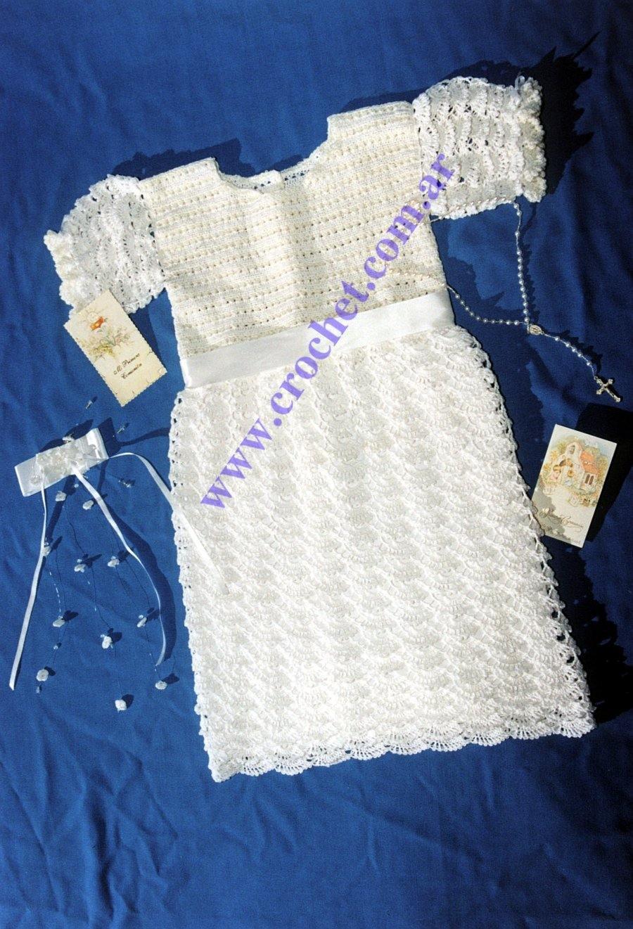 Vestidos para primera comunion tejidos