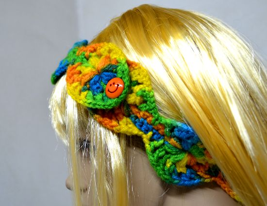 Vincha o Diadema para niña en tejido crochet