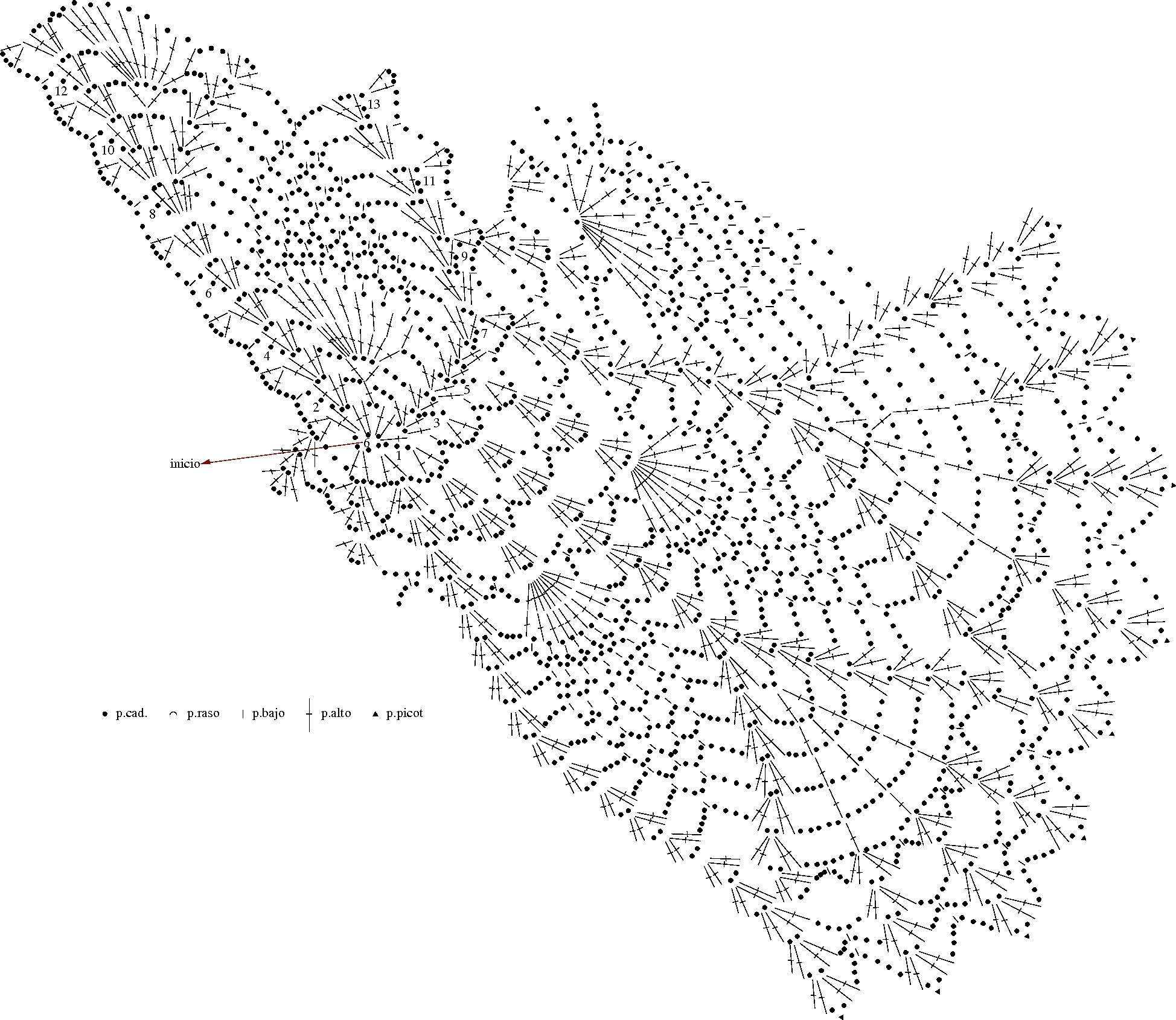 Carpeta Ovalada a crochet