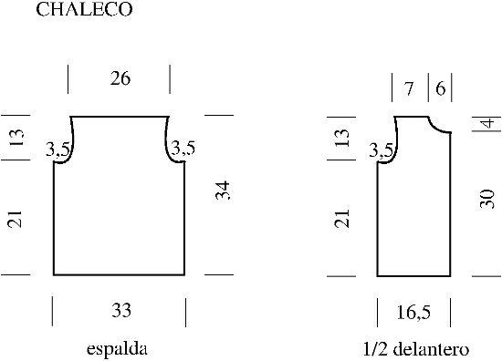 Conjunto de Chaleco y Short para niño en Tejido Crochet